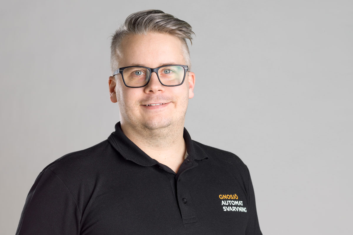 Jimmy Emanuelsson, delad planerings- och personalansvarig på hydromatavdelningen på Gnosjö Automatsvarvning