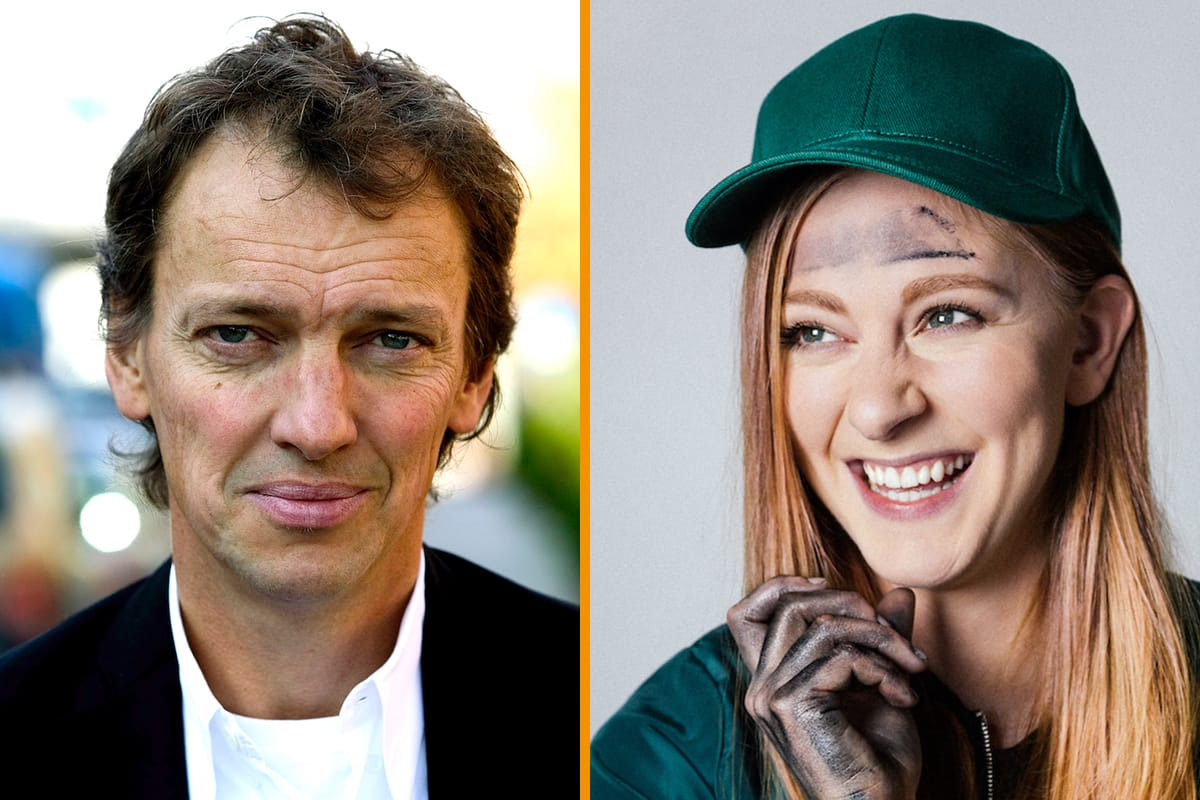 Lennart Ekdal och Simone Giertz