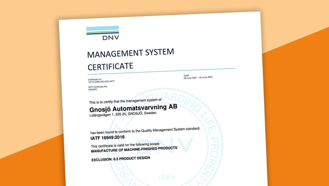 IATF certifikat